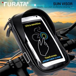 $enCountryForm.capitalKeyWord NZ - Turata 6.0 inch Waterproof Bike Bicycle Mobile Phone Holder Stand Motorcycle Handlebar Mount Bag For iphone X Samsung LG Huawei C18110801