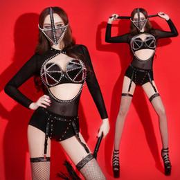 Rave Clothes NZ - Sexy Jazz Dance Costumes Female Singer Pole Dance  Clothing Bodysuit Rave Clothes 215f534d5a8d
