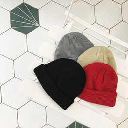 Women's Fashion Knitted Cap Autumn Winter Men Cotton Warm Hat Twist Beanies Solid Color Hip-Hop Wool Hats A777 from factory for hairs suppliers