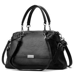 $enCountryForm.capitalKeyWord Australia - LAZYLIFE NEW PU Leather Female Top-handle Bags Larger Women Bags Hair Ball Shoulder Bag Motorcycle Messenger Bag
