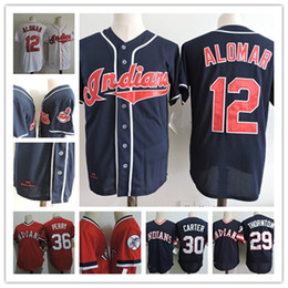 7cb7ff9eb Mens 1977 ANDRE THORNTON Jersey Stitched 2000 ROBERTO ALOMAR Jersey  30 JOE  CARTER  36 Gaylord Perry Jerseys S-3XL