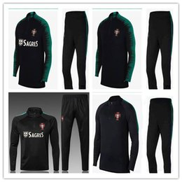 China PORTUGAL2018 Top Thailand soccer tracksuit 18 19 Training suit pants football training clothes sportswear mens Sweater Shirt coat cheap sportswear sweater pants suppliers