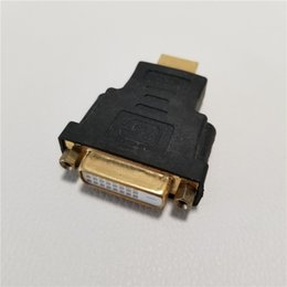 Dvi Connector Hdmi Australia - HD Conversion DVI 24+5Pin 29Pin Female to HDMI Male Adapter Gold-Plated Connector