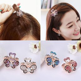 39d3e1b3c4f95 1PC Women Retro Vintage Crystal Rhinestone Mini Butterfly Crown Hairpins Hair  Claws Hair Clips Barrettes Hair Accessories