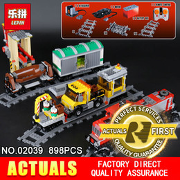 Train blocks online shopping - Lepin Real City Series The Red Freight Train Set Building Blocks Bricks Educational Model for Children