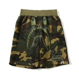 $enCountryForm.capitalKeyWord UK - New Summer Shark Printing Ape Pants Cooperative Casual Shorts Justin Bieber Men's Casual Beach Pants Fear of God Trousers Cheap Sale