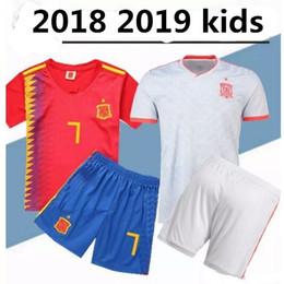 $enCountryForm.capitalKeyWord NZ - new 2019 boy child T-shirt Camisa Spain kids kit shirt 2018 Best Quality children RAMOS ISCO MORATA T-shirt free shipping