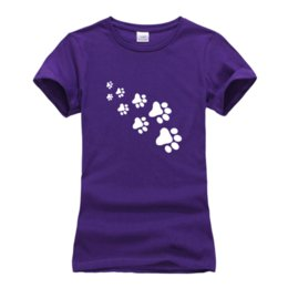 cute cat paw print NZ - Women's Tee Cute Cat Paws T Shirts For Women Tops Hipster Cotton Casual Hip Hop Funny Tee Shirt Lady 2018 Summer New Arrival T Shirts Female