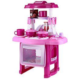 Girls Kitchen Play Set UK - Kids Kitchen set children Kitchen Toys Large Kitchen Cooking Simulation Model Play Toy for Girl Baby