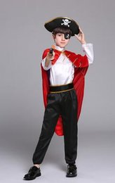 Custom made Catsuit online shopping - the new style children Cosplay Small pirate Boys and girls Dance Conjoined clothes long style