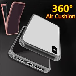 transparent iphone front back Canada - 360 Full Body TPU Cell phone Case Front Back Transparent Air Cushion Shockproof Airbag Soft Cover for iphone X XS MAX XR 8 6 7 plus