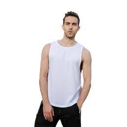 Athletics Shirt NZ - Running Vests Men Running Shirts Breathable Gym Tank Top Quick Dry Vest for Men Fitness Athletic Gym Sport Vests Bodybuilding