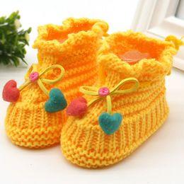 $enCountryForm.capitalKeyWord Australia - Winter Soft Woolen Baby Shoes Infants Crochet Knit Fleece Warm Boots Toddler Girl Boy Wool Snow Crib Shoes Booties
