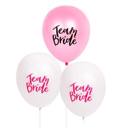 Diy balloons online shopping - White Pink Letter Balloon Team Bride Latex Balloons DIY Wedding Decorations Bachelorette Party Favor Supplies Kids Toys ws UU