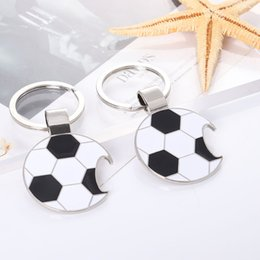 small bottle opener keychain NZ - 2018 World Cup bottle opener key chain car metal key ring men and women keychain small gifts