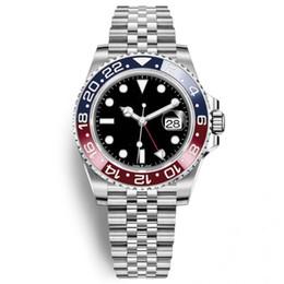2018 Los últimos relojes nuevos de lujo de Modell para hombre Basel Red Pepsi azul Los relojes automáticos de lujo para hombre Luminous Business Waterproof 30M reloj de pulsera