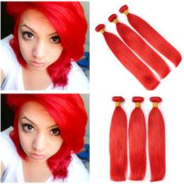 $enCountryForm.capitalKeyWord Australia - Hot Sell Virgin Malaysian Red Human Hair Extensions Silky Straight Human Hair Bundles Pure Red Color Malaysian Hair Weaves 3 Bundle Deals