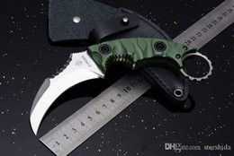 Discount strider knives - New Strider Defensive Karambit Survival Straight Knife D2 Blade G10 Handle Outdoor Tactical Camping Hunting Pocket Knife