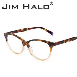 c5c39a6220a2 Jim Halo Retro Eyeglasses Acetate Optical Frame Spring Hinge Clear Lens RX-able  Non Prescription Glasses Men Women