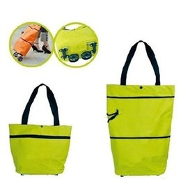 Wholesale 1pcs Portable Shopping Bag Reusable Handbags Supermarket Cart Shopping Trolley Wheel Bags Grocery Case Pouch