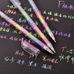 Chalk Pens NZ - Creative 6 Colors Water Chalk Pen Cute Kawaii Watercolor Gel Pens Office School Supplies Korean Stationery Free shipping 222