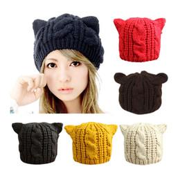 $enCountryForm.capitalKeyWord NZ - Fashion Lady Girls Winter Warm Knitting Wool Cat Ear Beanie Ski Beret Hat Cap