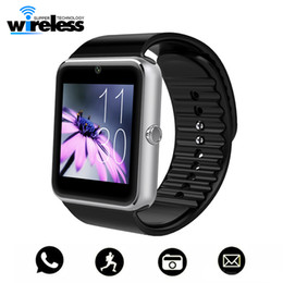 Iphone golden batterIes online shopping - GT08 Bluetooth Smart Watch With Touch Screen High quality Battery Support TF Sim Card Camera For IOS iPhone Android Phone