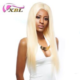 Half lace wig brazilian Hair online shopping - XBL Hair Blonde Human Hair Lace Front Wigs Long Straight Wig For Black Women Brazilian Half Lace Human Hair Wigs Pre plucked