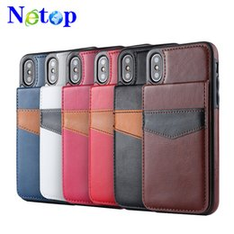 Wholesale Netop Mad horse material bracket belt card slot For Iphone X case caso del iphone luxury phone case