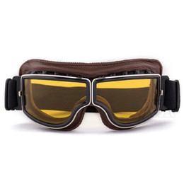 db092332965e Nawenson Hot Sell Aviator Pilot Cruiser Cycling Bicycle Motorcycle Goggles  Glasses Eyewear PU Leather Eyewear