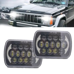 led jeep headlights Canada - 5X7 inch 85W h4 LED HEADLIGHT BULB 7x6inch headlamp DRL for Jeep Wrangler YJ XJ truck FLD Firebird Celica 240SX 7inch led lamp