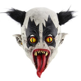 cosplay for children UK - Halloween Terrifying Horrible Realistic Creepy Bat Clown Mask Cosplay Costumes Party Props Masquerade Supplies