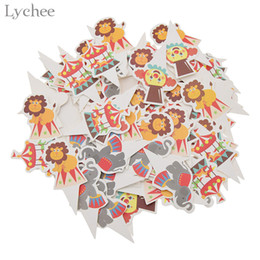 China Lychee 100pcs Circus Theme Party Cupcake Toppers Cute Animal Baby Shower Cake Topper Birthday New Year Party Decoration Supplies suppliers