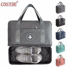 Men Women Double Layer Travel Bag Dry and Wet Separation Package Beach Bag  Large Capacity Waterproof Duffle Luggage Handbags 019935379a