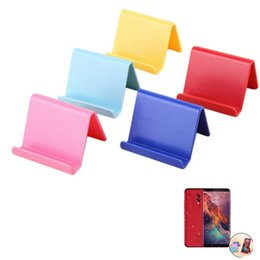 Hands Free Phone Holder Australia - Colorful Creative Portable solid color mobile phone holder mobile base cute tools hands free phone gadgets