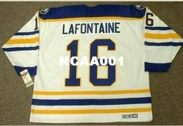 645a20866 ... cheapest mens 16 pat lafontaine buffalo sabres 1992 ccm vintage retro  home hockey jersey or custom
