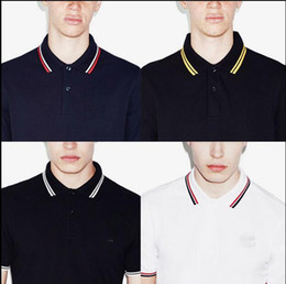 Letter embroidery poLo shirts online shopping - new brand Summer Men Polo FRED Brand Embroidery Shirt Short Sleeves Tops Turn down Collar Polo Clothing Male Fashion Casual Polo S XL