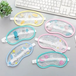Wholesale Cute And Transparent Ice Compress Eye Patch Travel Rest Sleep Blindfold Breathable Ice Cover Cartoon Sleeping Mask Cold Compress Eye Patch