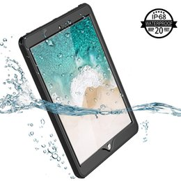 Ipad Transparent Screen Australia - For iPad Pro 10.5 Waterproof Case Rugged Full Body Protect Sleek Transparent Cover with Built in Screen Protector Shockproof Waterproof Case