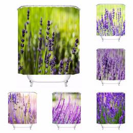 Discount nature curtains - Custom Lavender Plant Nature Bathroom Acceptable Shower Curtain Polyester Fabric Bathroom Curtain #180318-37-37