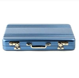 diamond id UK - New Metal Business ID Credit Card Holder Mini Suitcase Business Bank Card Name Card Holder Box Case