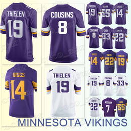 MINNESOTA 66 VIKINGS jerseys 19 Adam Thielen 14 Stefon Diggs 8 Kirk Cousins  33 Dalvin Cook 22 Harrison Smith 2018-2019 new jersey 89b1d615f
