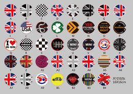 Flags For Cars Windows NZ - 1 pc Fuel Tank Cap Sticker for Mini Cooper Flag Patern England Royal Style Car full tank cap sticker Epacket free