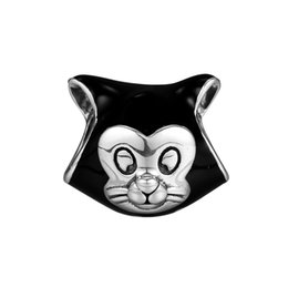 $enCountryForm.capitalKeyWord NZ - New Authentic 925 Sterling Silver Animal Bead Charm Black Enamel Sweet Figaro Cat Beads Fit Pandora Bracelet Bangle Diy Jewelry