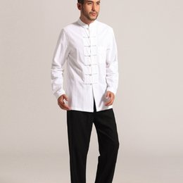 77959df20df chinese traditional clothing kung fu clothes cheongsam shirt long sleeve  for men chinese tang suit for mens male top man