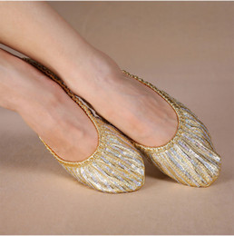 $enCountryForm.capitalKeyWord NZ - Cheap Wholesale women belly dance shoes lady belly dance accessories for dancer shoes on the stage sequins