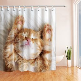 cat curtains canada hot cute pet cat fashion shower curtain 70 x 70 in mildew - Cat Curtains