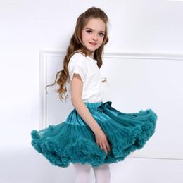 Red White Blue Tutus Australia - New Baby Girls Tutu Skirt Ballerina Pettiskirt Layer Fluffy Children Ballet Skirts for Party Dance Princess Girl Tulle Miniskirt