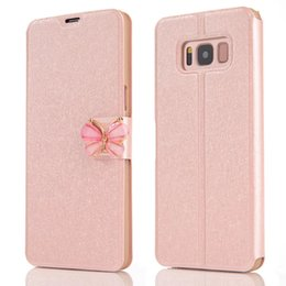 Discount silk stand - Wallet Leather For Iphone XS MAX XR X 8 7 6 5 SE Galaxy Note 9 S9 S8 Luxury Butterfly Silk Card Slot Flip Luxury Pouch C