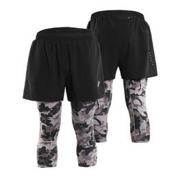 $enCountryForm.capitalKeyWord Canada - Arsuexo Men's 2 in 1 Running Capri Pants Breathable Active Training Workout Shorts Leggings Tennis Baseball Pants with Pockets
